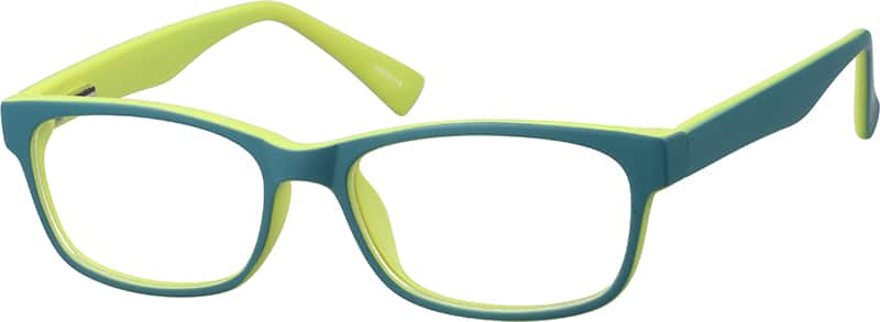 Kids' Green Rectangular Eyeglasses