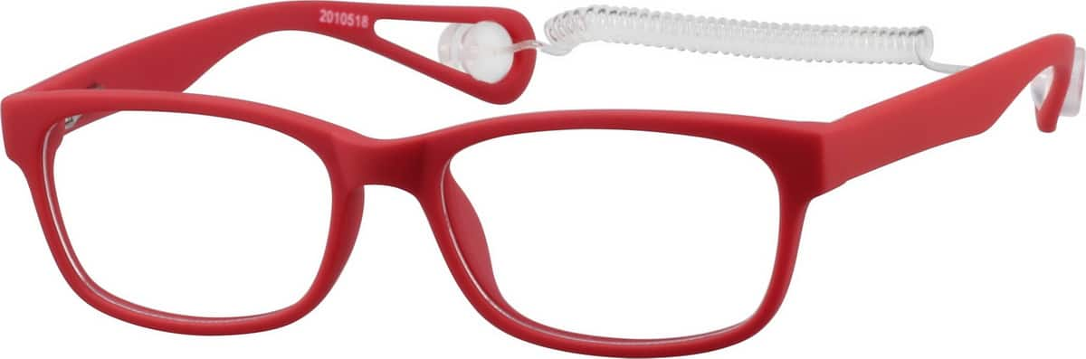 Toddlers' Red Rectangular Eyeglasses