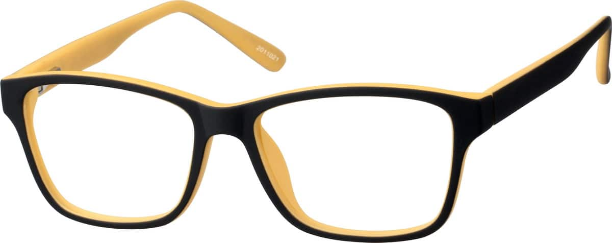 Boys' Black & Yellow Square Eyeglasses