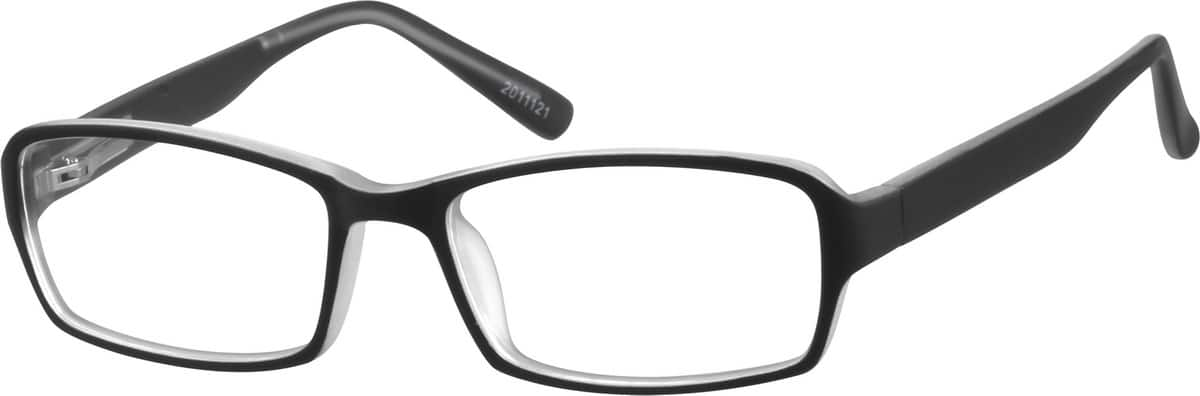 Kids' Black & Clear Rectangular Eyeglasses