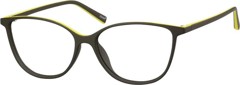 Two-Tone Cat-Eye Eyeglasses