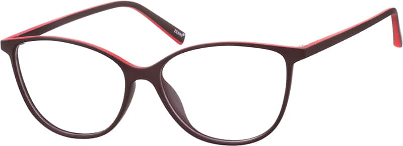 two tone cat eye eyeglasses
