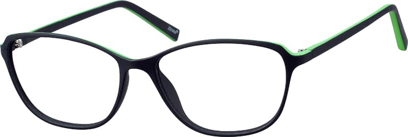 Two-Tone Oval Eyeglasses