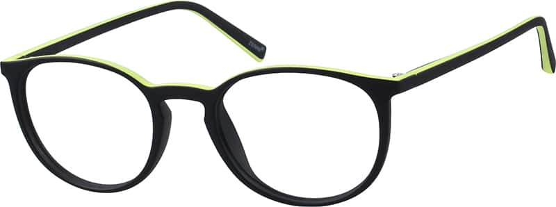 Two-Tone Round Eyeglasses