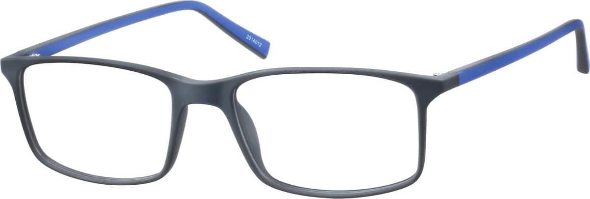 gray two tone rectangle eyeglasses 20140 zenni optical