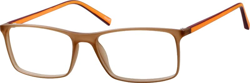 Two-Tone Rectangle Eyeglasses