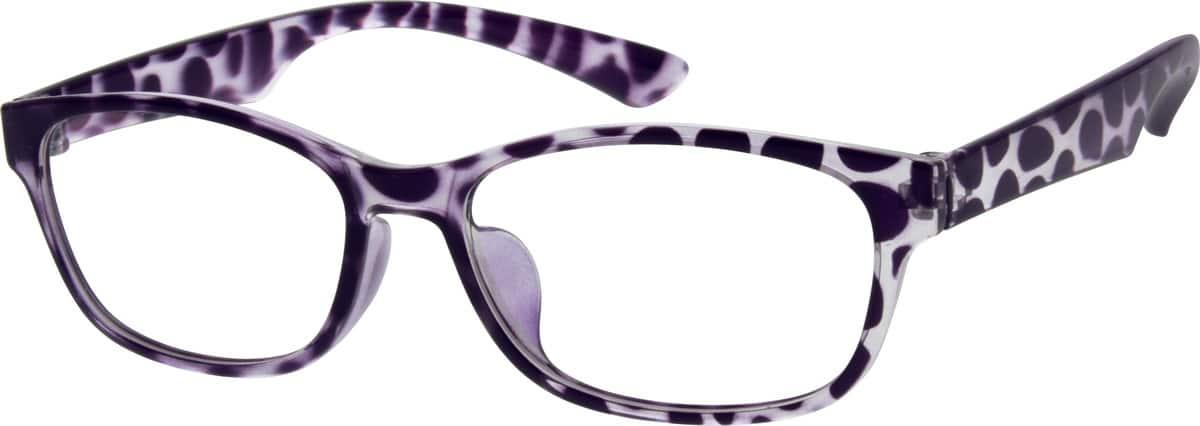Purple Plastic Full-Rim Frame #2022 Zenni Optical Eyeglasses