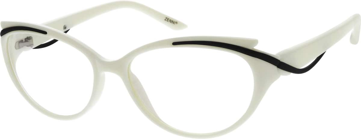 Eyeglasses White Frame : White Plastic Full-Rim Frame #2056 Zenni Optical Eyeglasses