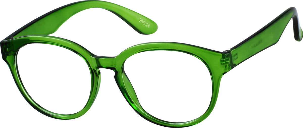 Green Flexible Plastic Full-Rim Frame #2060 Zenni ...