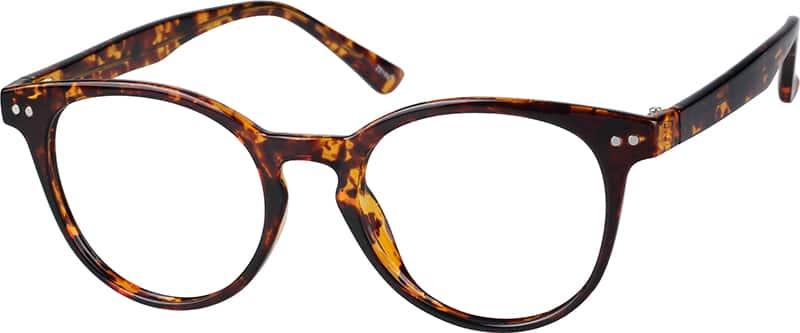 eyeglasses  Tortoiseshell Round Keyhole Eyeglasses #2084