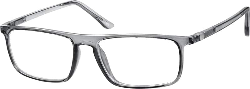 Gray Translucent Rectangular Eyeglasses