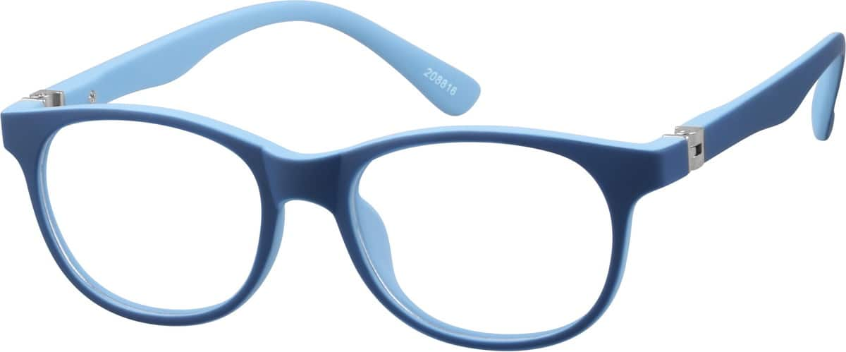 Kids' Blue & Black Wayfarer Eyeglasses