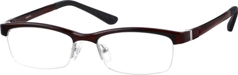 UnisexHalf RimAcetate/PlasticEyeglasses #209715