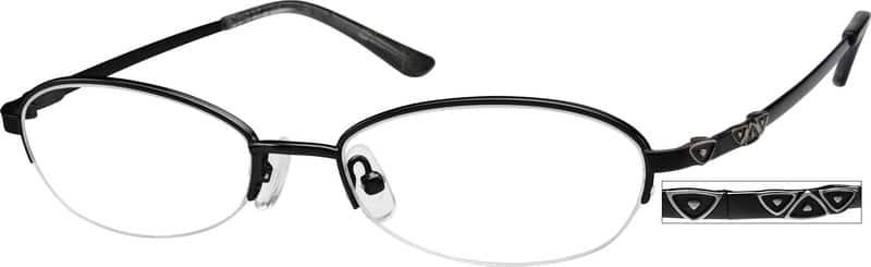 WomenHalf RimMemory TitaniumEyeglasses #212719