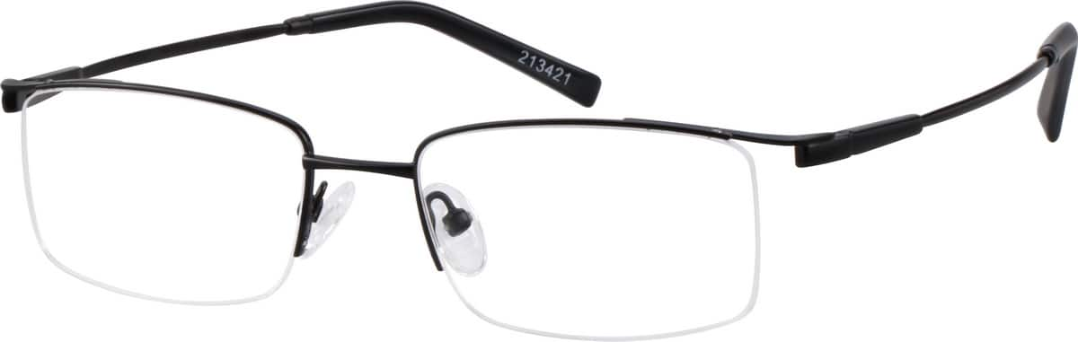 213421-bendable-memory-titanium-half-rim-frame-with-spring-hinges