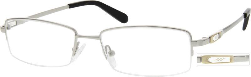 MenHalf RimMemory TitaniumEyeglasses #216311