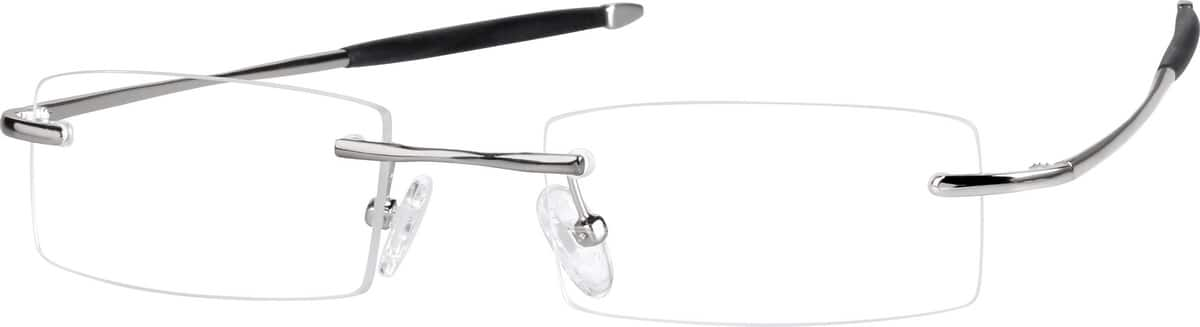 Men Rimless Memory Titanium Eyeglasses #216411