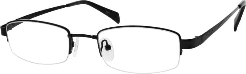 Men Half Rim Stainless Steel Eyeglasses #216515