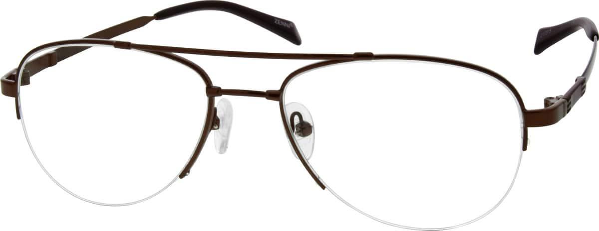 MenHalf RimMemory TitaniumEyeglasses #217314