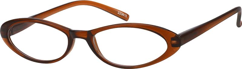 Brown 2236 Plastic Full-Rim Frame with Spring Hinges