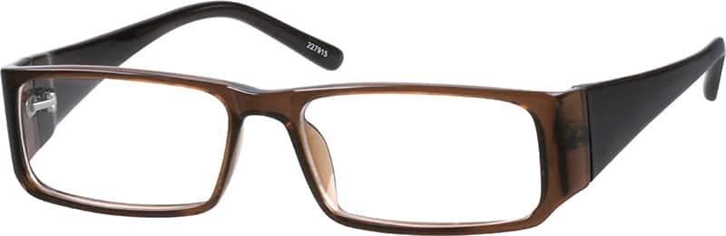 Brown Stylish Plastic Full-Rim Frame #2279 Zenni Optical ...
