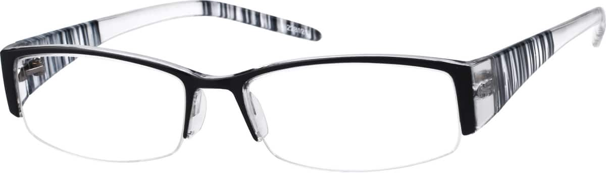 228121-plastic-fashion-half-rim-frame-same-appearance-as-frame-8281