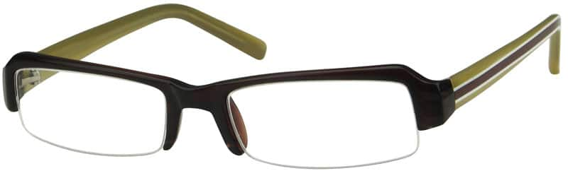 Men Half Rim Acetate/Plastic Eyeglasses #229721