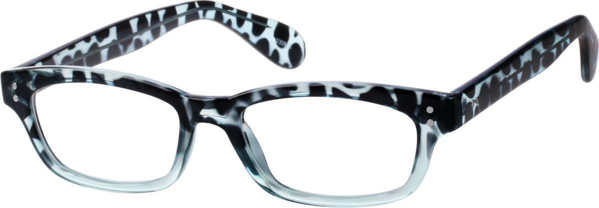 Animal-Print Rectangular Eyeglasses