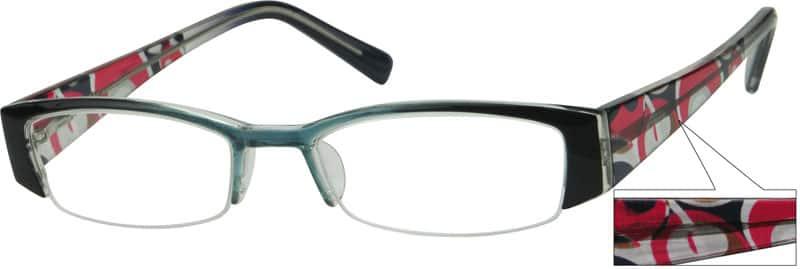 WomenHalf RimAcetate/PlasticEyeglasses #231624