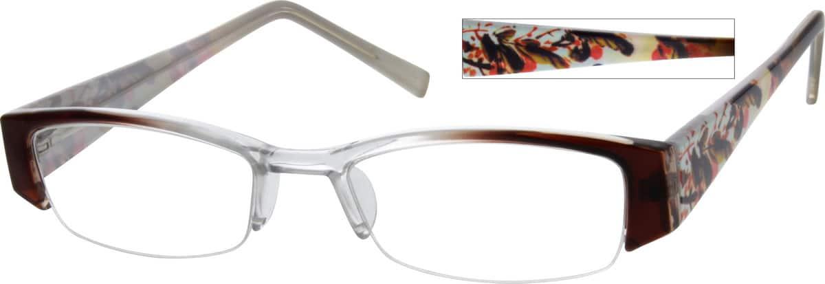 WomenHalf RimAcetate/PlasticEyeglasses #233124