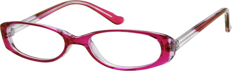 Red 2344 Plastic Full-Rim Frame