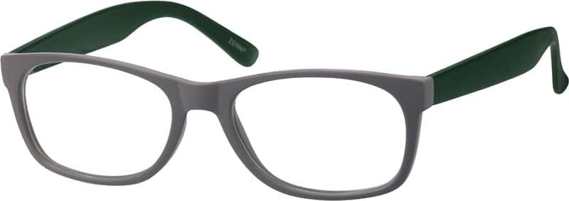 Grey 2349 Plastic Full-Rim Frame