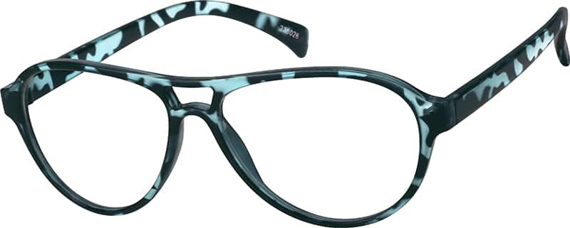 Blue 2360 Plastic Full-Rim Frame (Same Appearance as Frame #8060)
