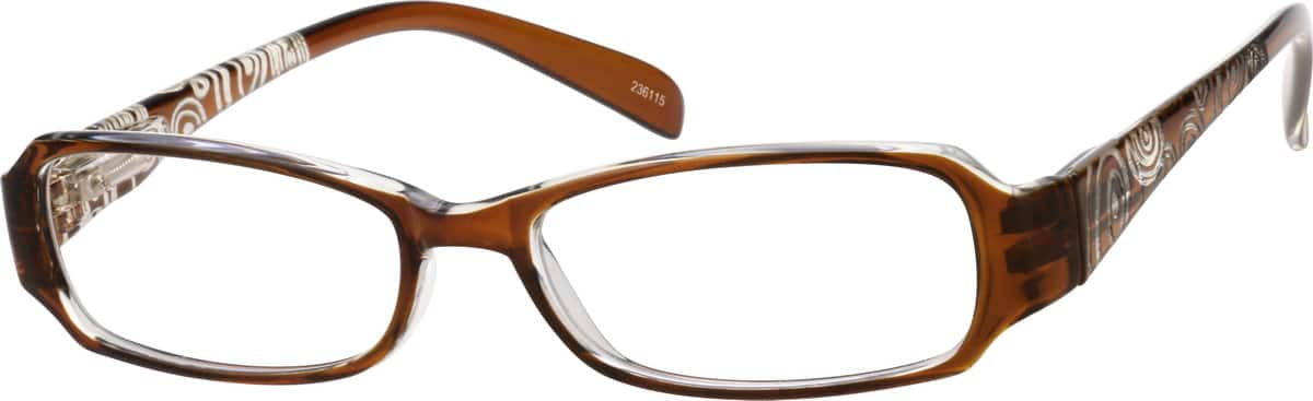Women's Translucent Rectangular Eyeglasses