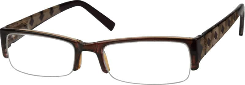 Men Half Rim Acetate/Plastic Eyeglasses #236216