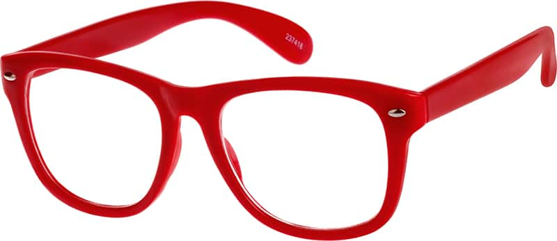 Red 2374 Plastic Full-Rim Frame