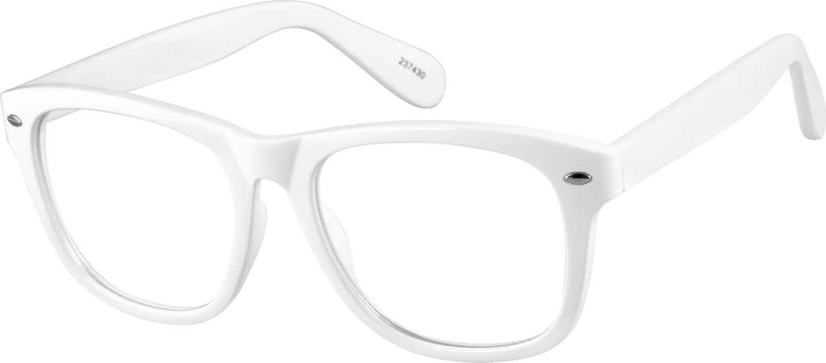 White2374 Plastic Full-Rim Frame