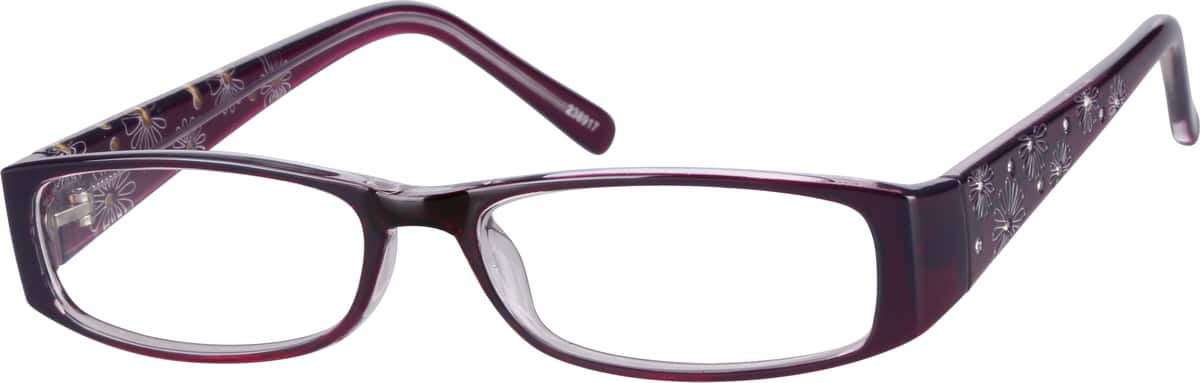 Women's Daisy-Print Rectangular Eyeglasses