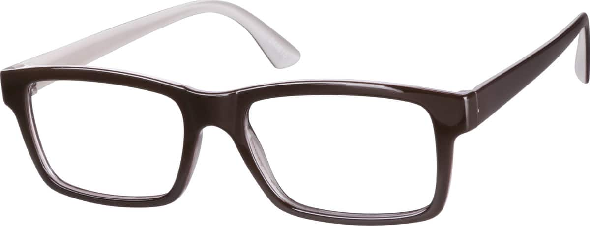 Brown 2448 Stylish Plastic Full-Rim Frame