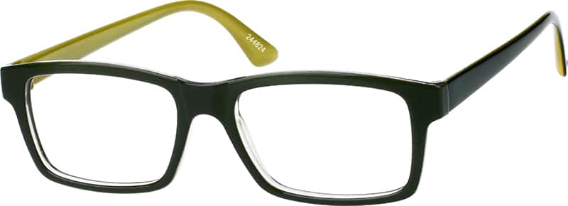 Two-Tone Rectangular Eyeglasses