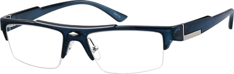 Men Half Rim Acetate/Plastic Eyeglasses #250716
