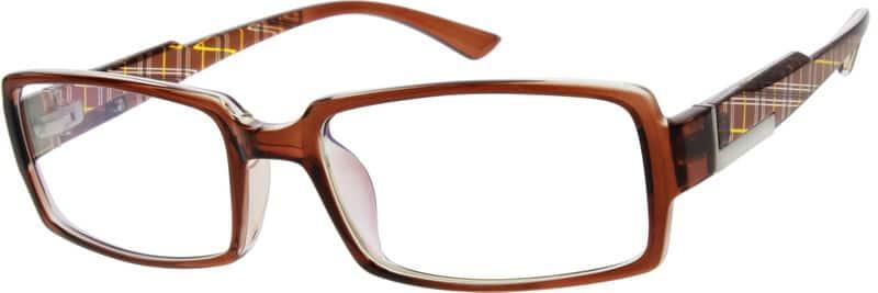 Zenni Optical Mens Rimless Glasses : Brown Plastic Full-Rim Frame #2516 Zenni Optical Eyeglasses