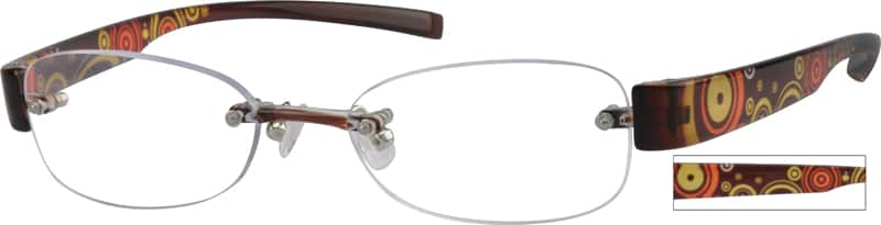 Women Rimless Acetate/Plastic Eyeglasses #252021