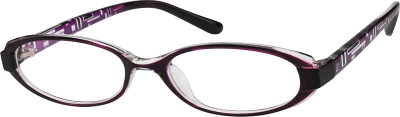 Purple Stylish Plastic Full-Rim Frame #2558 Zenni ...