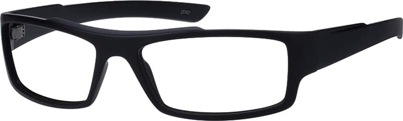 Contemporary Black Rectangular Eyeglasses & Sunglasses