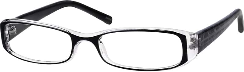 Women's Glossy Printed Rectangular Eyeglasses