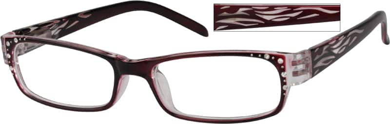 Women Full Rim Acetate/Plastic Eyeglasses #260516