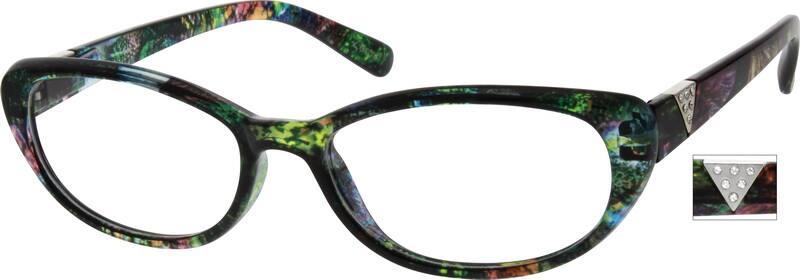 WomenFull RimAcetate/PlasticEyeglasses #260621