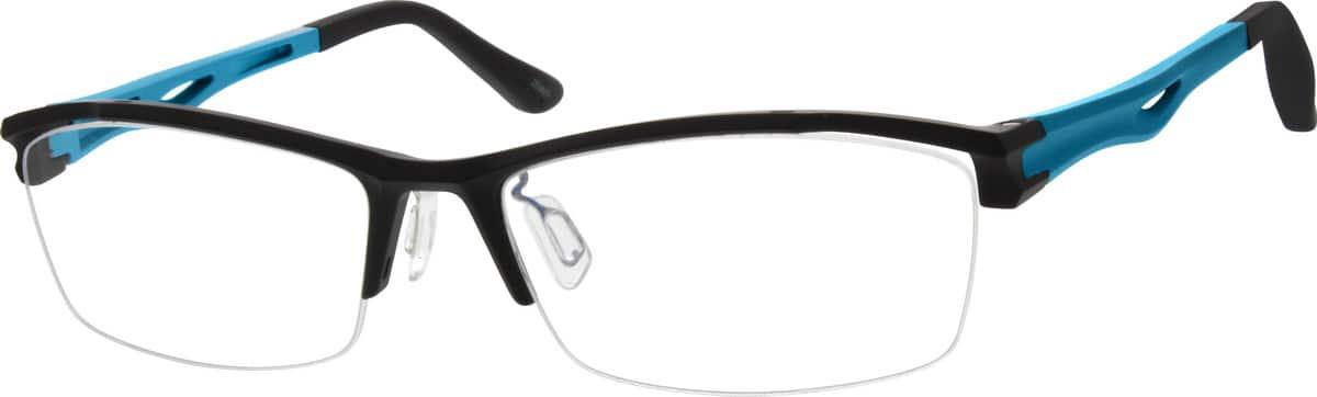 White Half Frame Glasses : White Plastic Half-Rim Frame #2621 Zenni Optical Eyeglasses