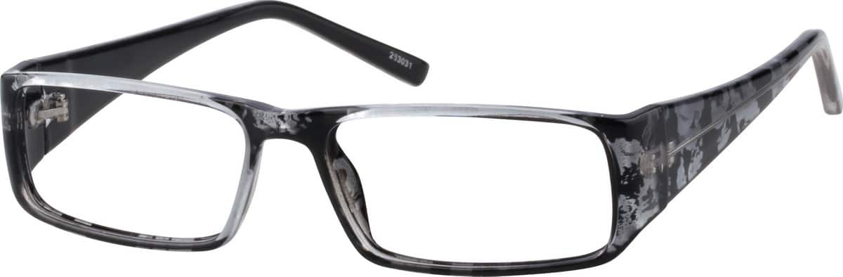 Abstract-Print Rectangular Eyeglasses